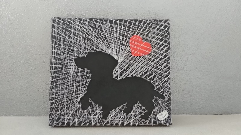 teckel-string-art