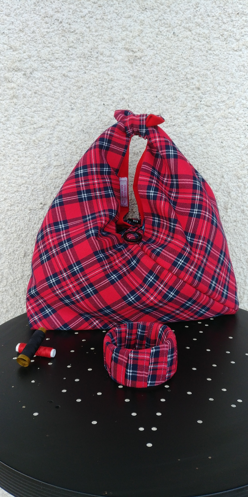 borsa-tartan-rossa-origami
